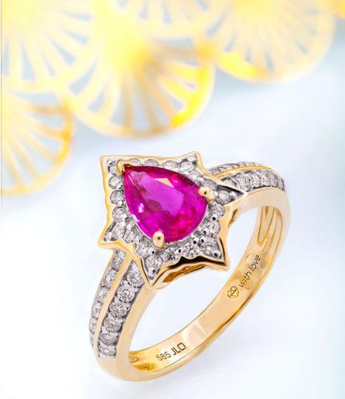 Rubin-Ring aus der Annette with Love-Kollektion