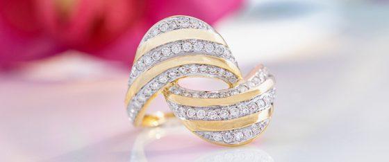Diamant-Goldring aus der Annette with Love-Kollektion